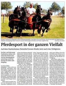 Zeitungsartikel aus der Harzer Volksstimme